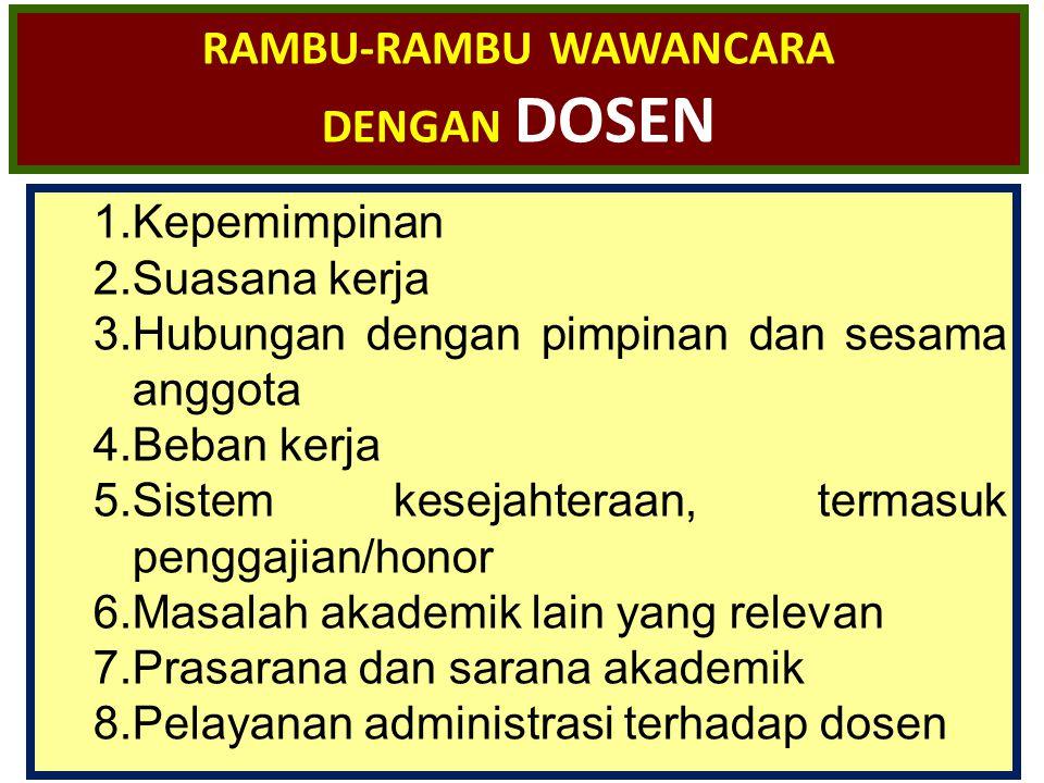 RAMBU-RAMBU WAWANCARA DENGAN DOSEN