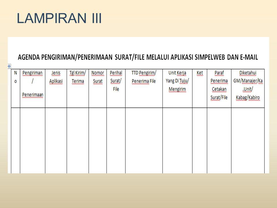 LAMPIRAN III