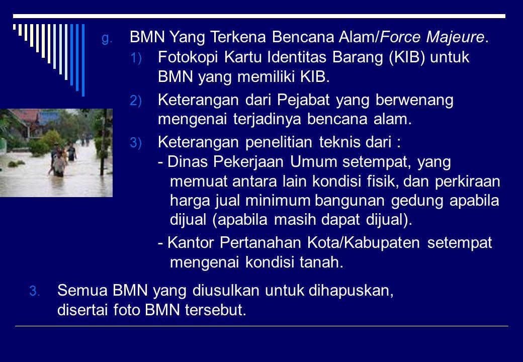 BMN Yang Terkena Bencana Alam/Force Majeure.