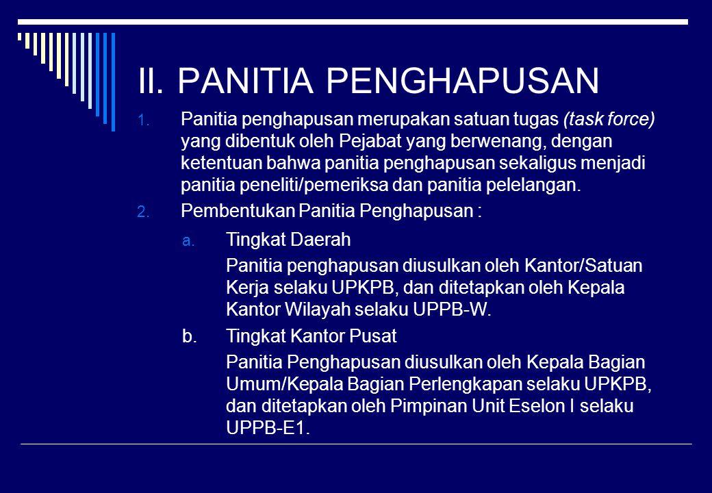 II. PANITIA PENGHAPUSAN