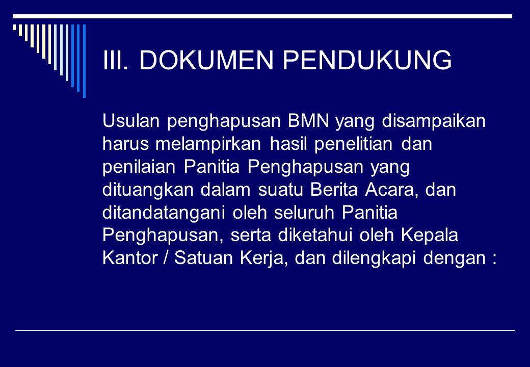 III. DOKUMEN PENDUKUNG