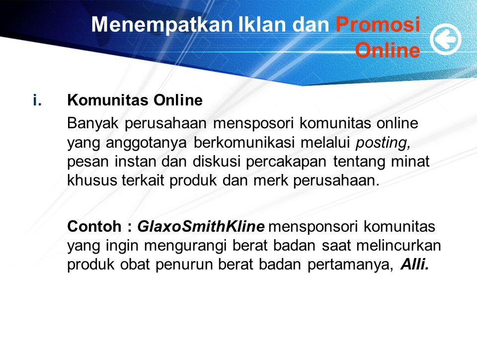 Menempatkan Iklan dan Promosi Online