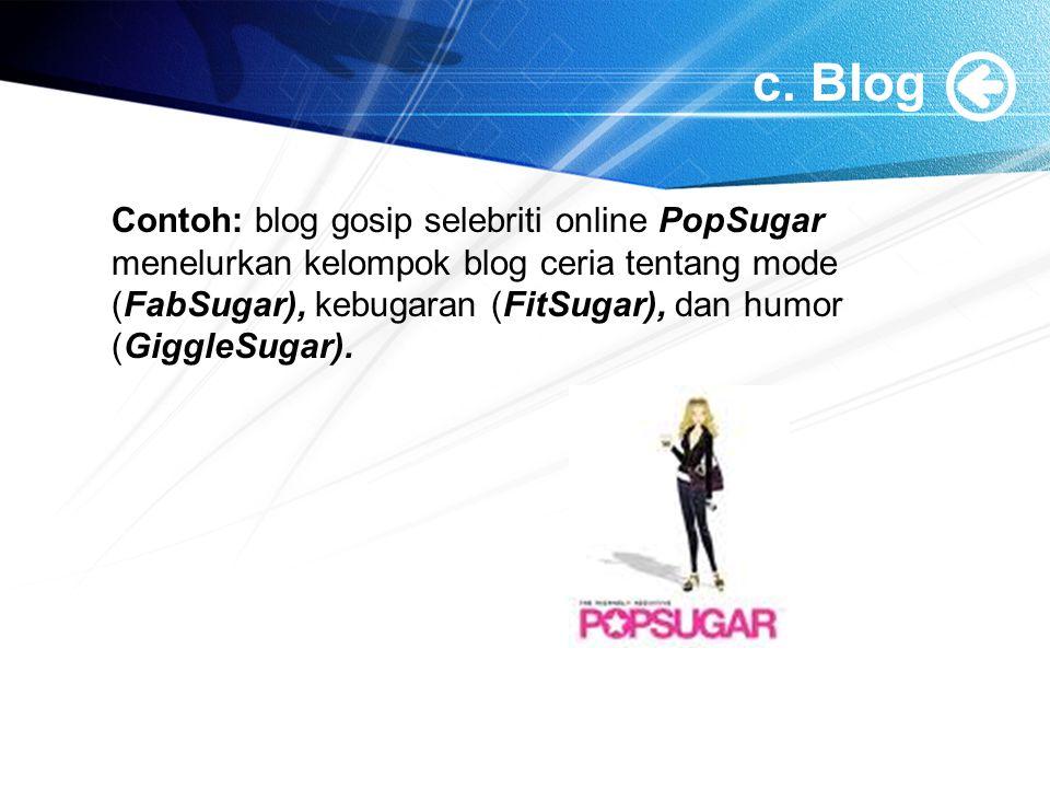 c. Blog