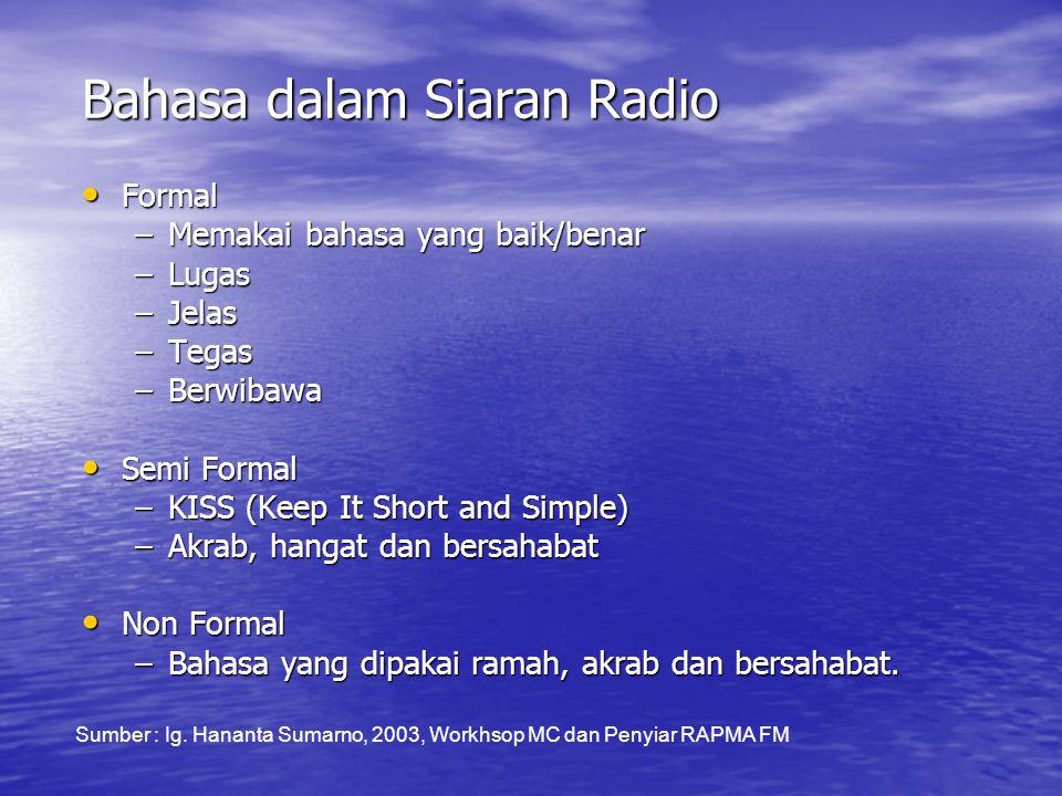 Bahasa dalam Siaran Radio