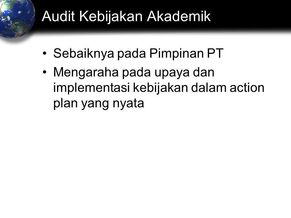 Audit Kebijakan Akademik