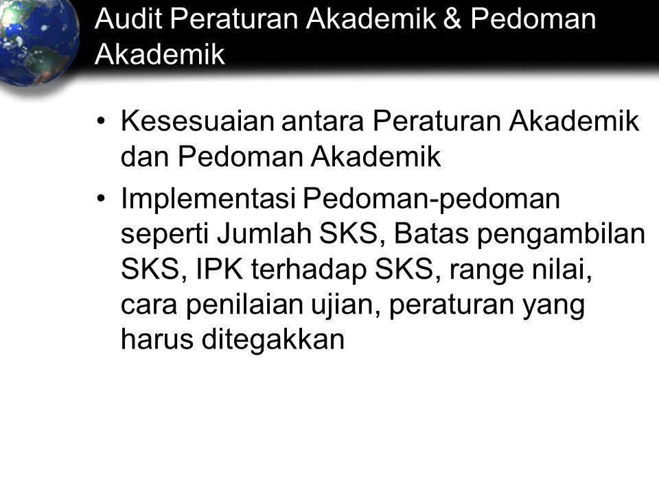 Audit Peraturan Akademik & Pedoman Akademik