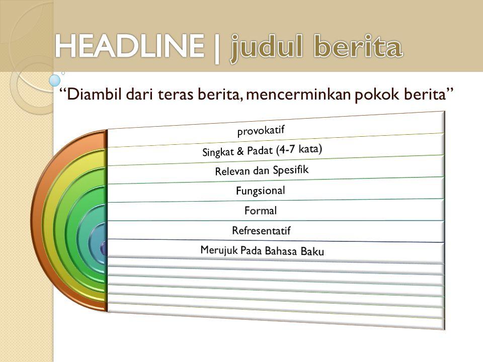 HEADLINE | judul berita