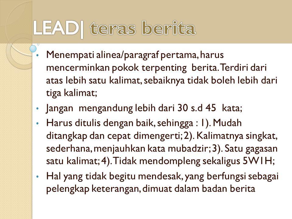 LEAD| teras berita