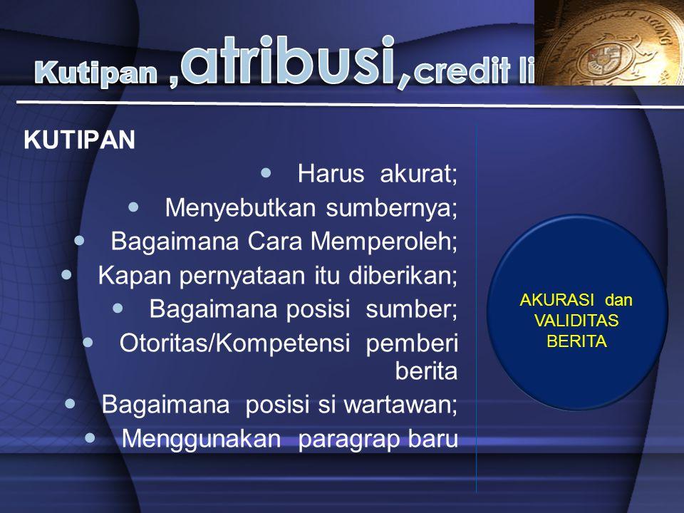 Kutipan ,atribusi,credit line