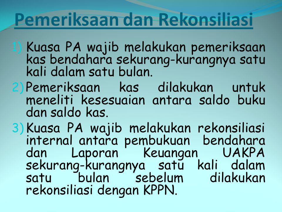 Pemeriksaan dan Rekonsiliasi