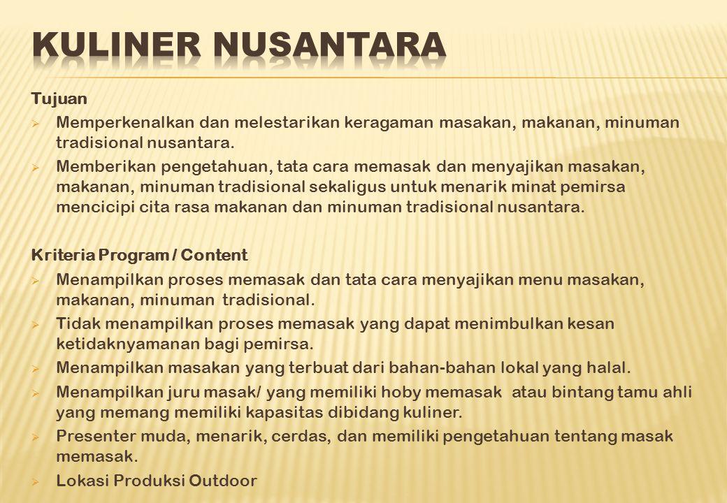 Kuliner Nusantara Tujuan
