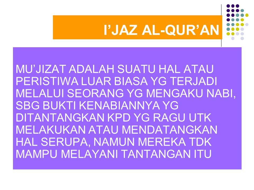 I'JAZ AL-QUR'AN