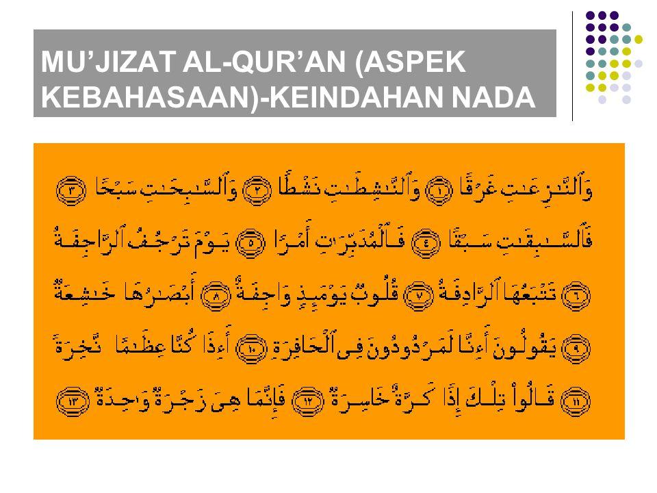 MU'JIZAT AL-QUR'AN (ASPEK KEBAHASAAN)-KEINDAHAN NADA