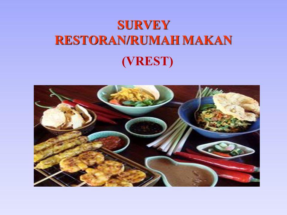 SURVEY RESTORAN/RUMAH MAKAN