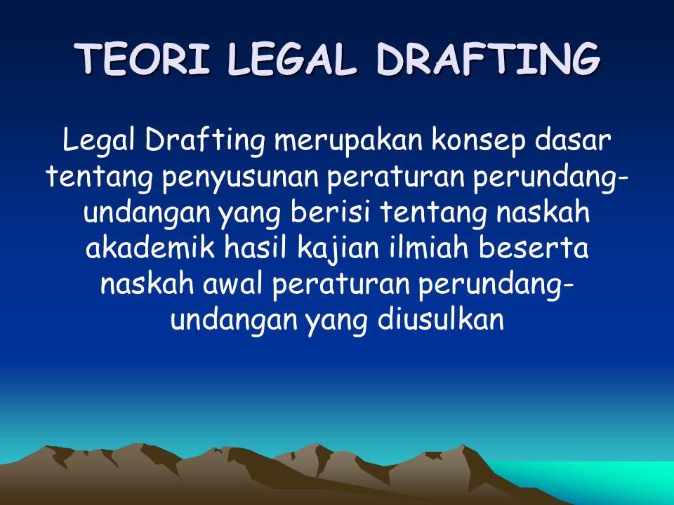TEORI LEGAL DRAFTING
