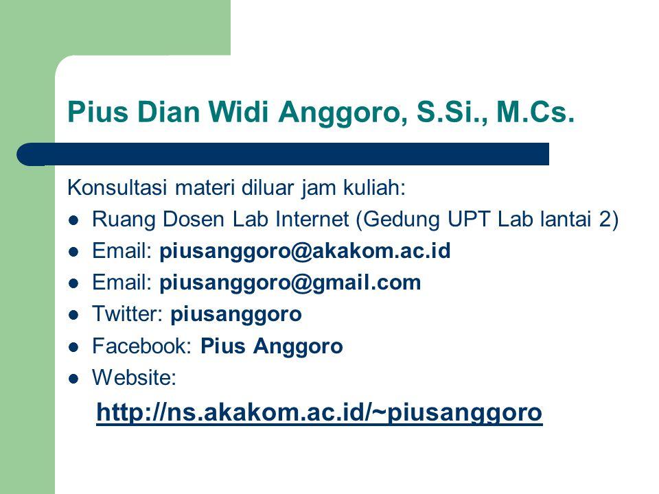 Pius Dian Widi Anggoro, S.Si., M.Cs.