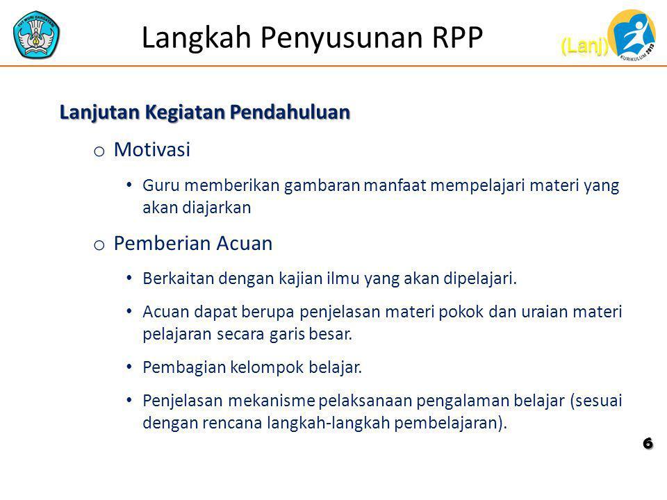 Rambu Rambu Penyusunan Rpp Ppt Download