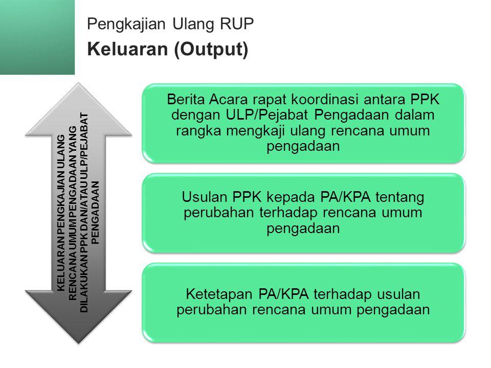 Pengkajian Ulang RUP Keluaran (Output)