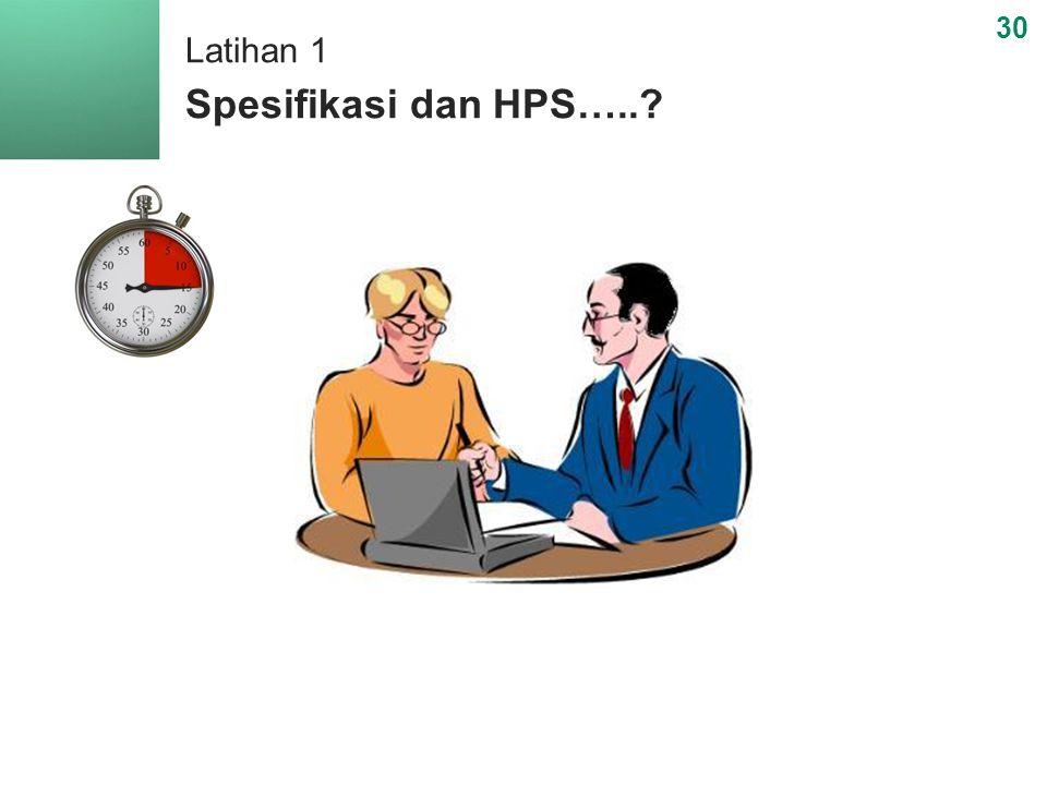 Latihan 1 Spesifikasi dan HPS…..