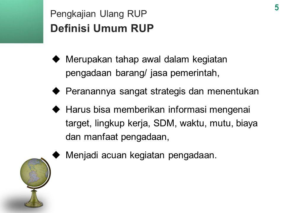 Pengkajian Ulang RUP Definisi Umum RUP
