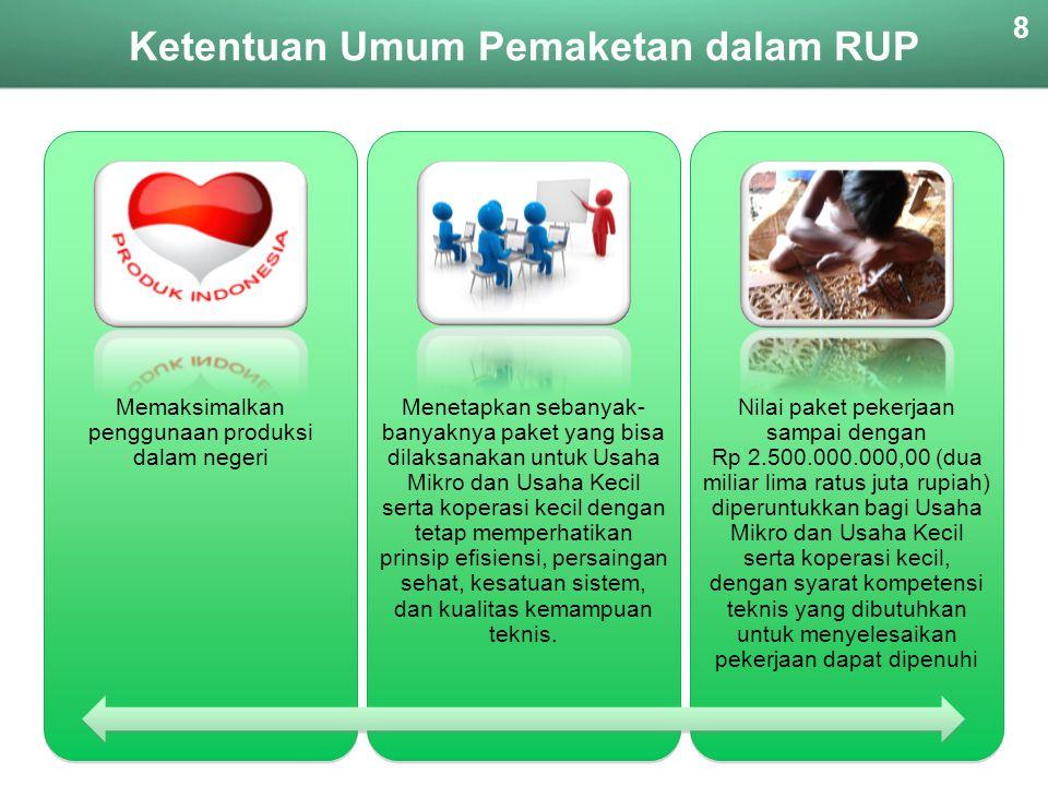 Ketentuan Umum Pemaketan dalam RUP