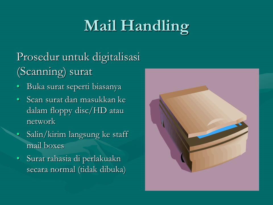 Mail Handling Prosedur untuk digitalisasi (Scanning) surat