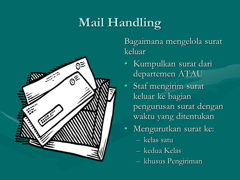Mail Handling Bagaimana mengelola surat keluar