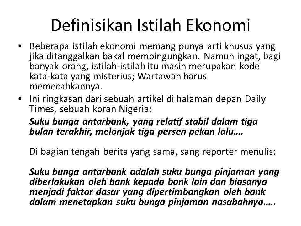 Definisikan Istilah Ekonomi