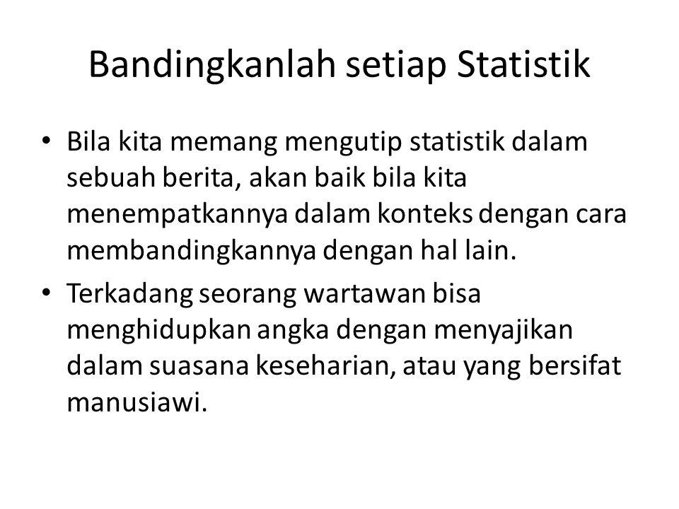 Bandingkanlah setiap Statistik
