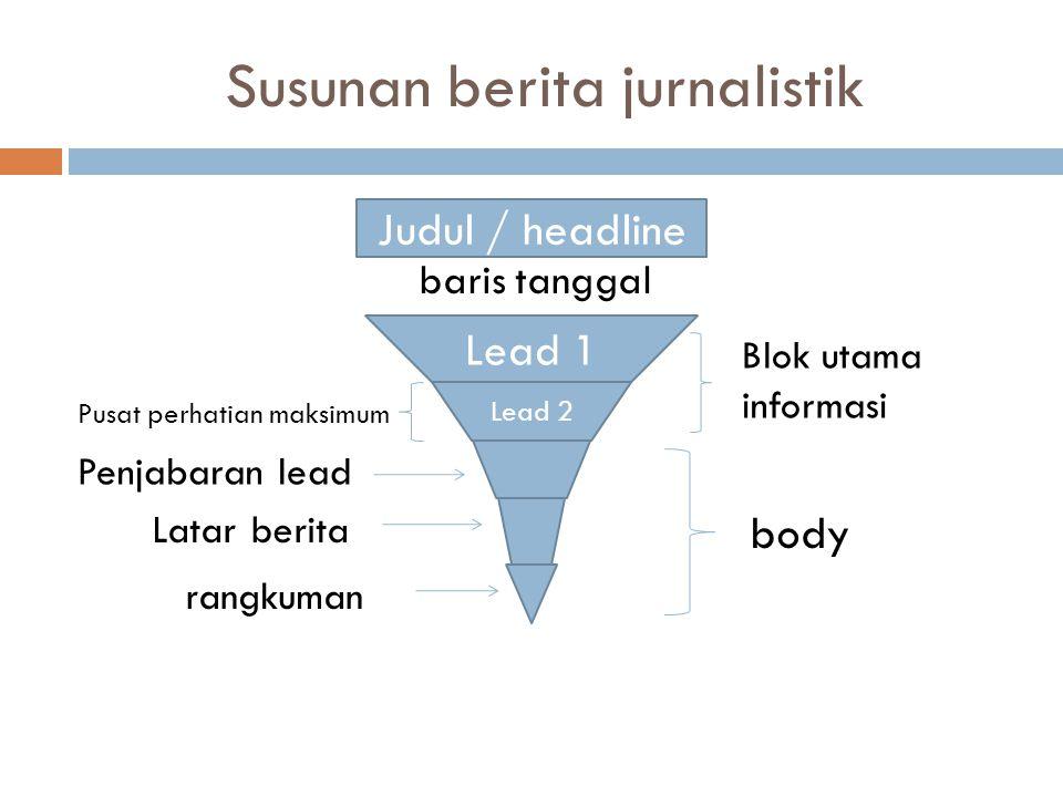 Susunan berita jurnalistik