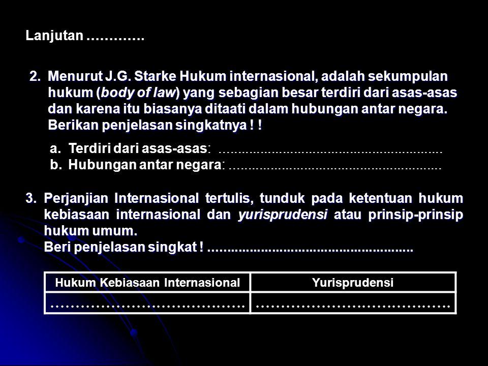 Hukum Kebiasaan Internasional