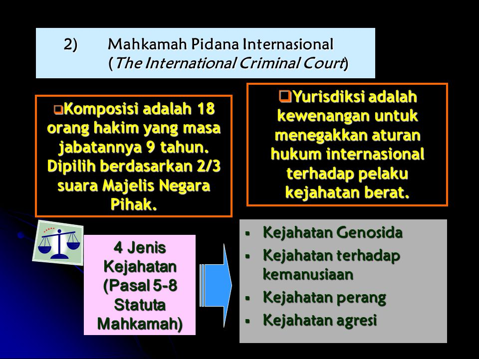Mahkamah Pidana Internasional (The International Criminal Court)