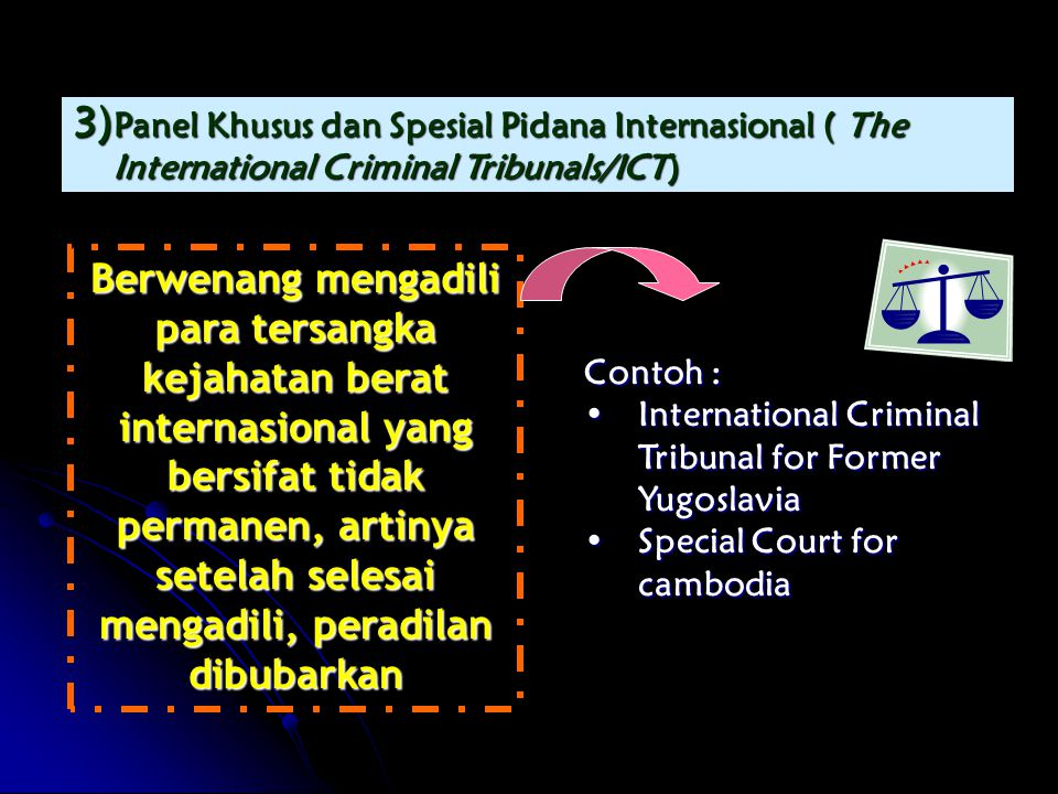 Panel Khusus dan Spesial Pidana Internasional ( The International Criminal Tribunals/ICT)