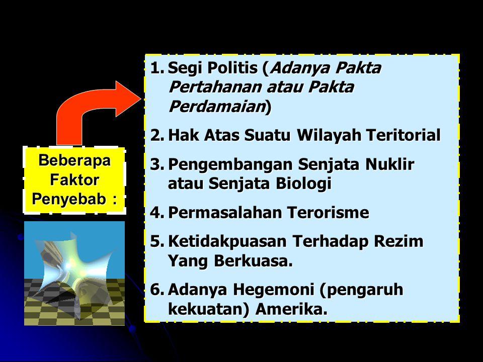 Beberapa Faktor Penyebab :