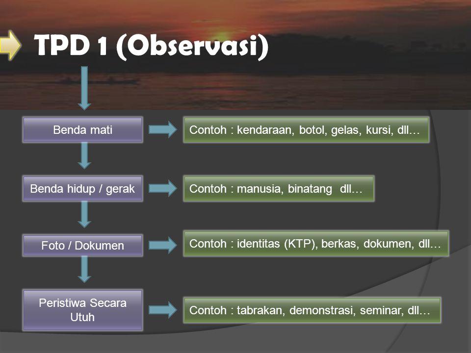 TPD 1 (Observasi) Benda mati