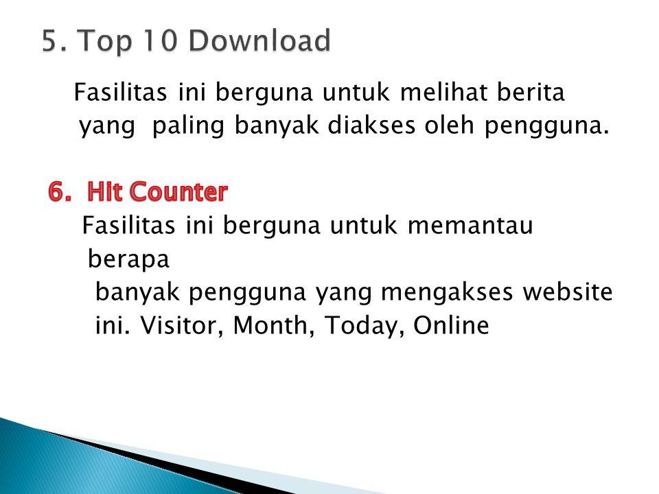 5. Top 10 Download Fasilitas ini berguna untuk melihat berita