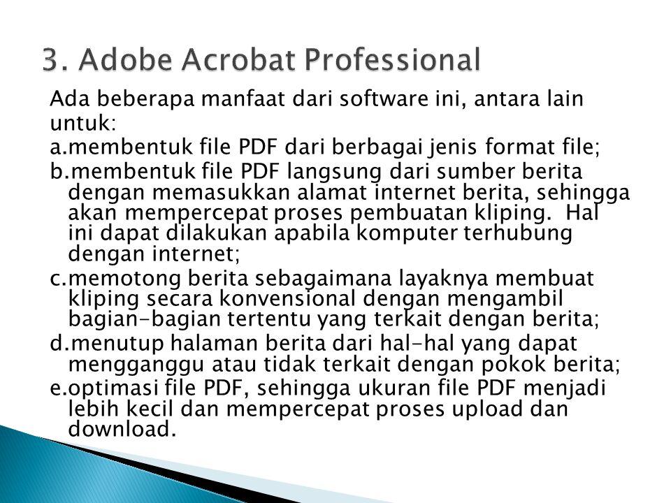 3. Adobe Acrobat Professional