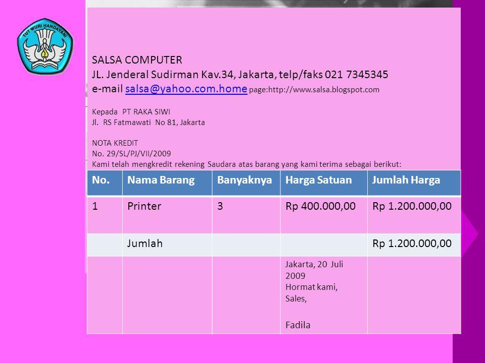 SALSA COMPUTER JL. Jenderal Sudirman Kav