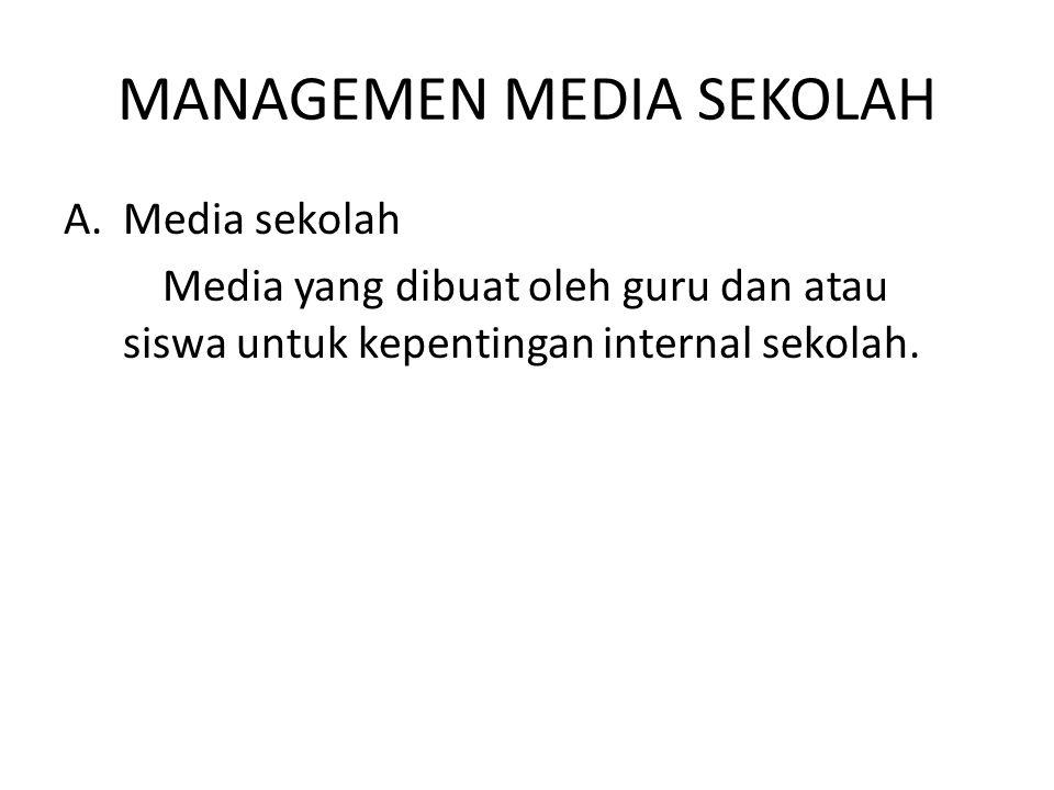MANAGEMEN MEDIA SEKOLAH
