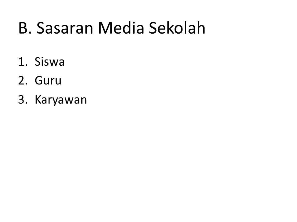 B. Sasaran Media Sekolah