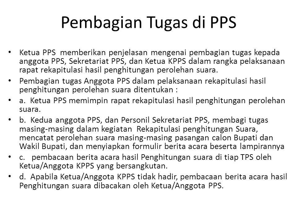 Pembagian Tugas di PPS