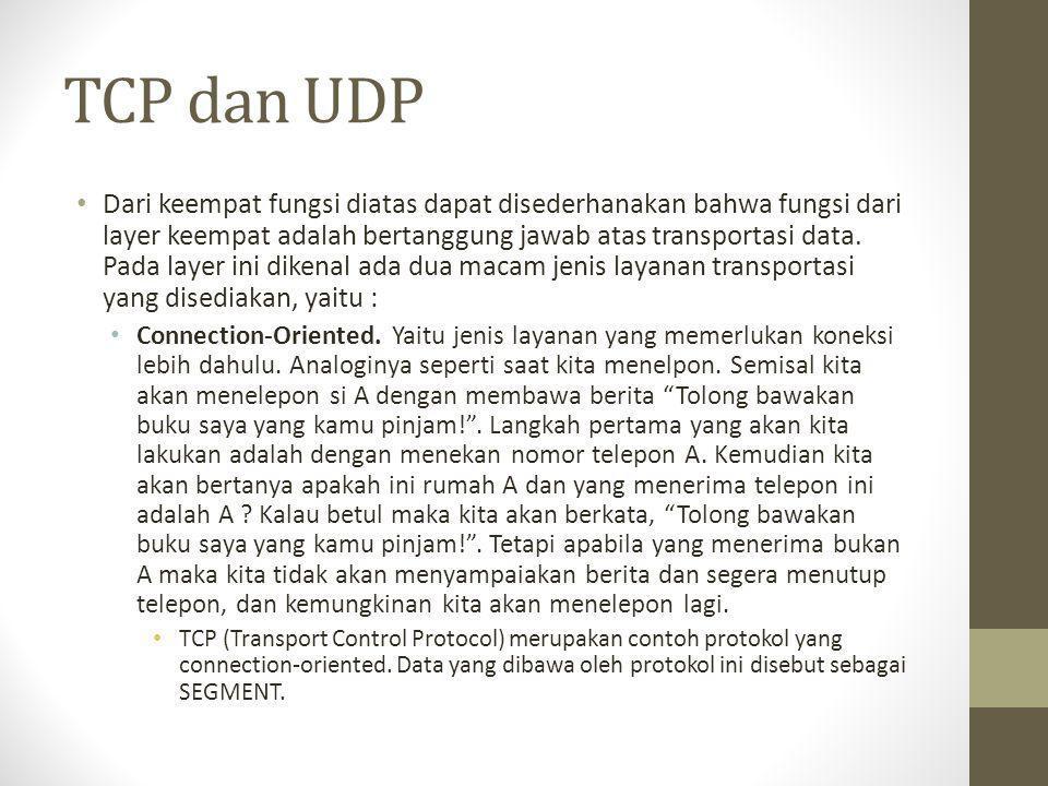 TCP dan UDP