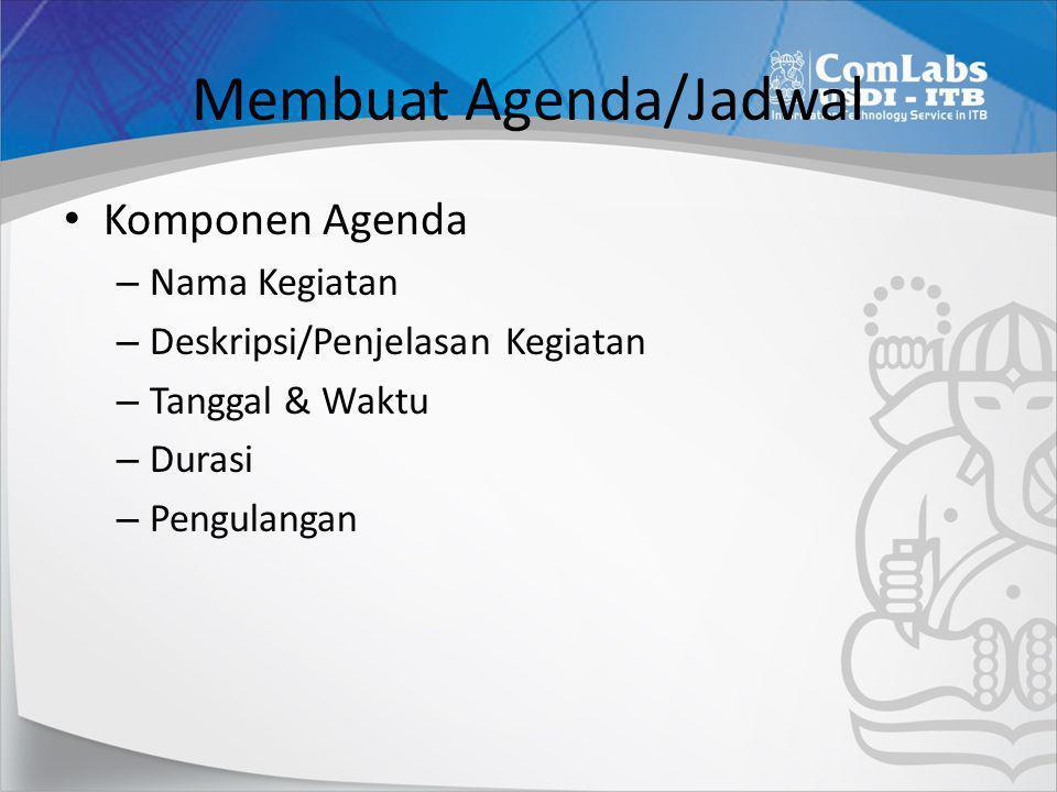 Membuat Agenda/Jadwal