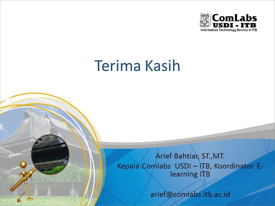 Kepala Comlabs USDI – ITB, Koordinator E-learning ITB