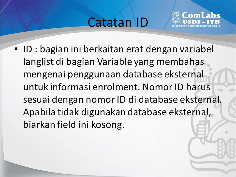 Catatan ID