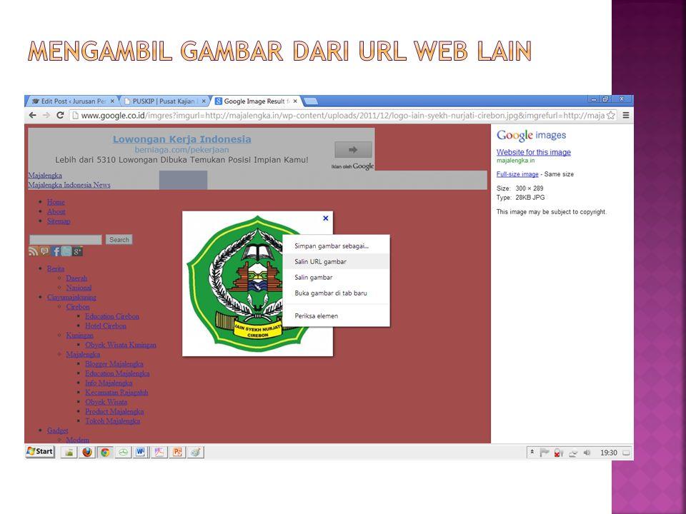 Mengambil Gambar dari url web lain