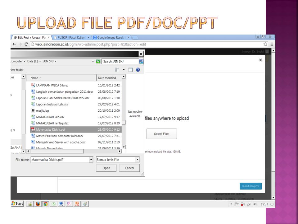 Upload file pdf/doc/ppt