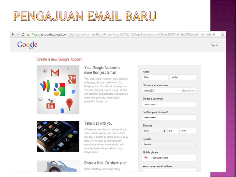 Pengajuan email baru