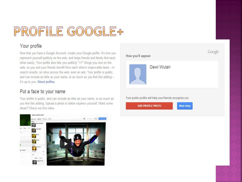 Profile Google+