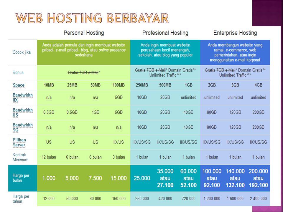 Web hosting berbayar